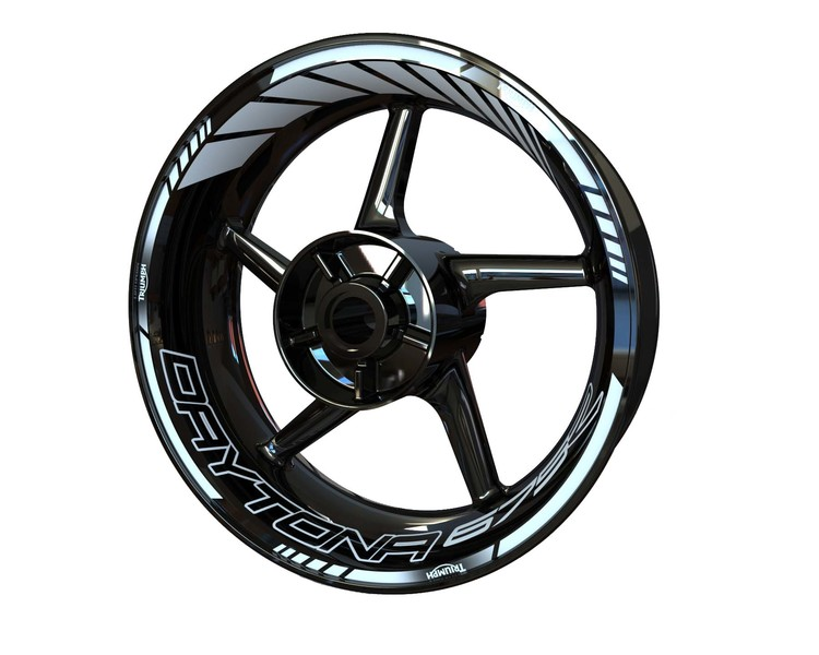 Triumph Daytona 675 Wheel Stickers Standard (Front & Rear - Both Sides Included)
