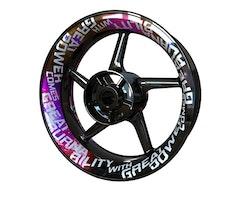 Burnability Wheel Stickers kit - Premium Design