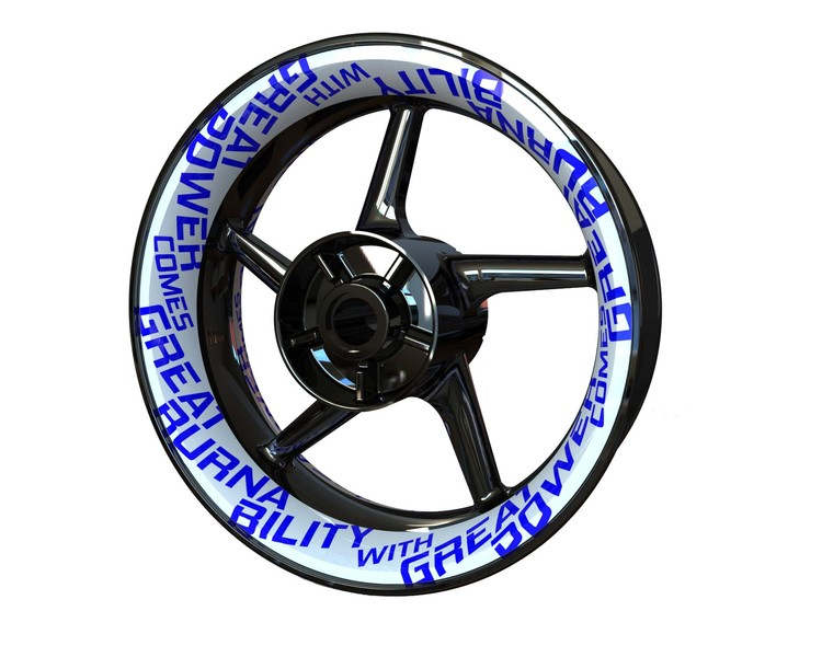 Rim Stickers Premium - Burnability