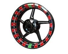 Roulette Felgenaufkleber Premium (Vorne und hinten - beide Seiten inklusive)