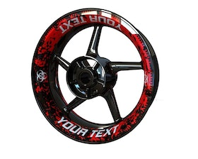 Your Text Biohazard Wheel Graphics Premium (Front & Rear - Both Sides Included)