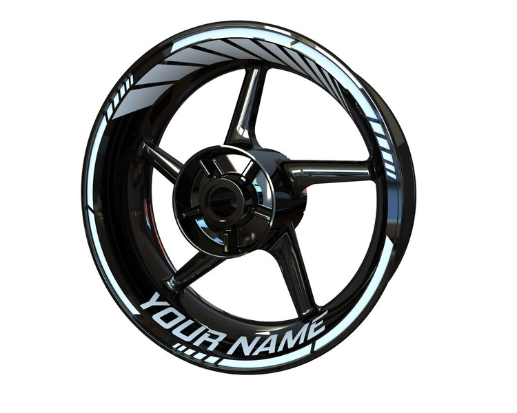 YOUR NAME  Wheel Stickers Standard (Front & Rear - Both Sides Included)