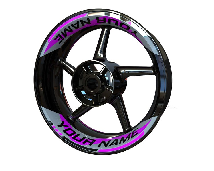 Your Name Rim Stickers 2-piece (Front & Rear - Both Sides Included)