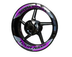 Your Name Wheel Stickers kit - 2-Piece Design