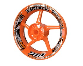 KTM 790 Duke Wheel Stickers Plus (Front & Rear - Both Sides Included)