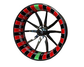 Roulette Wheel Graphics Premium (Single Swingarm) (Front & Rear - Both Sides Included)