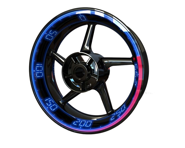 Speedometer Wheel Stickers kit - Premium Design