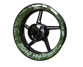 ROAD WARRIOR Wheel Graphics Premium (Front & Rear - Both Sides Included)