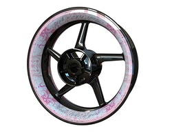 RIDE LIKE A GIRL Wheel Stickers kit - Premium Design