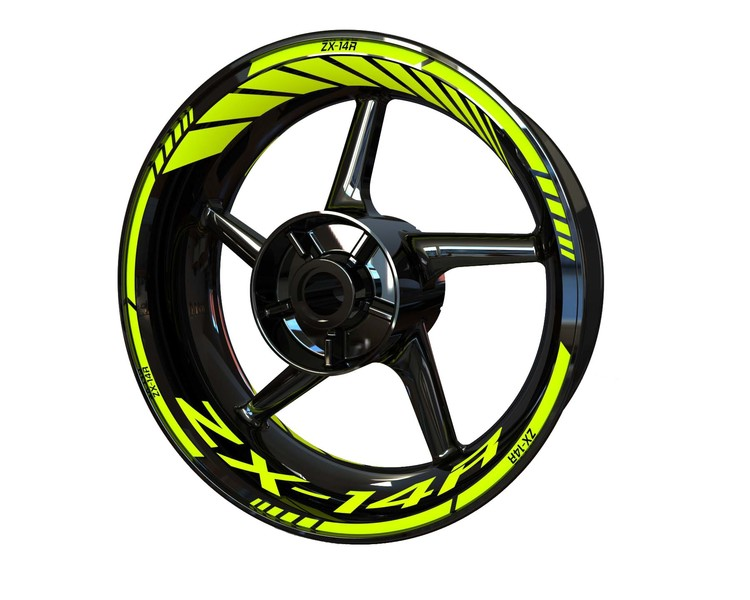 Kawasaki ZX-14R Wheel Stickers Standard (Front & Rear - Both Sides Included)
