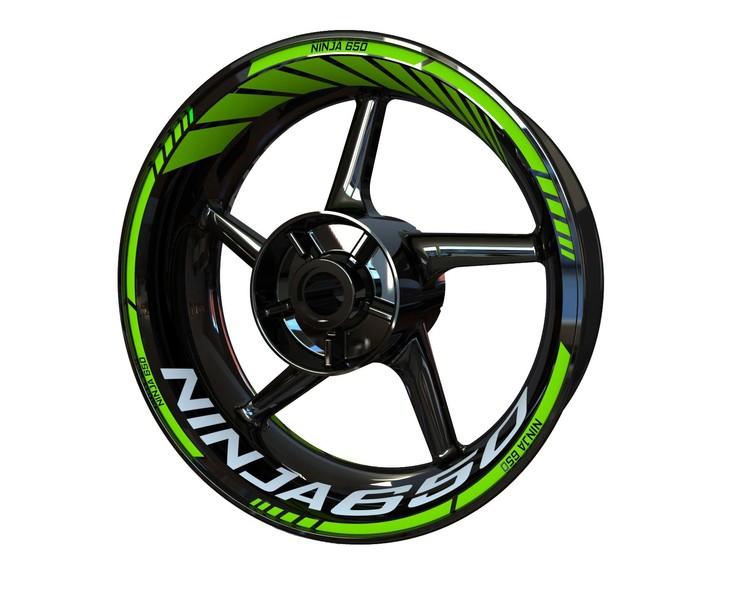 Kawasaki Ninja 650 Wheel Stickers Standard (Front & Rear - Both Sides Included)
