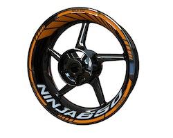 Kawasaki Ninja 650 Wheel Stickers kit - Standard Design