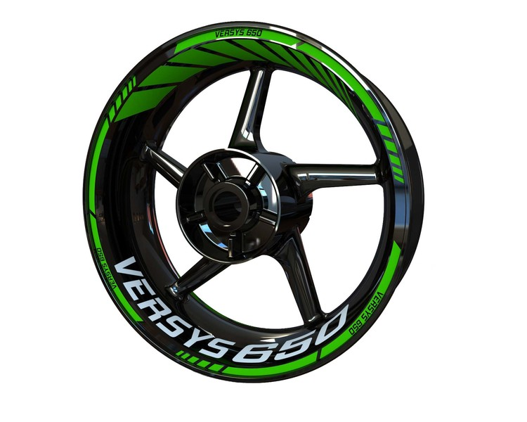 Kawasaki Versys 650 Wheel Stickers Standard (Front & Rear - Both Sides Included)