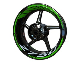 Kawasaki Z750 Wheel Stickers Standard (Front & Rear - Both Sides Included)