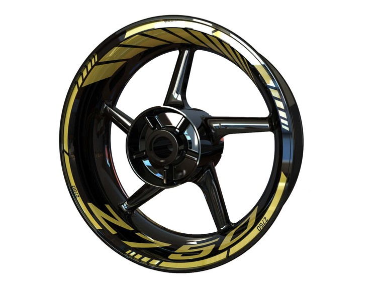 Z750 Wheel Stickers Standard (Front & Rear - Both Sides Included)