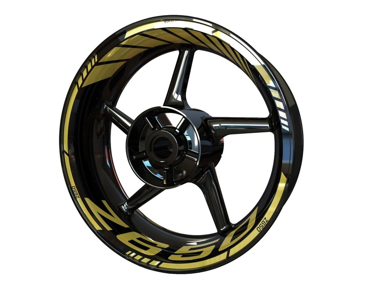 Z650 Wheel Stickers Standard (Front & Rear - Both Sides Included)