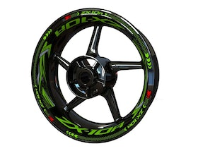 Kawasaki ZX-10R Wheel Stickers Plus (Front & Rear - Both Sides Included)