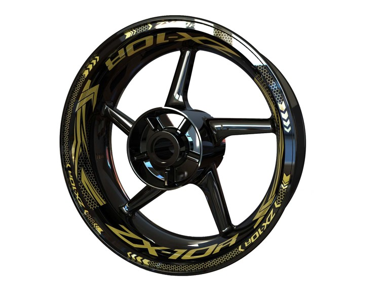 ZX-10R Wheel Stickers Plus (Front & Rear - Both Sides Included)