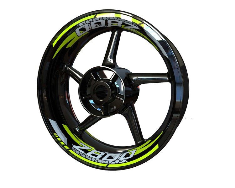 Kawasaki Z800 V2 Rim Stickers 2-piece (Front & Rear - Both Sides Included)