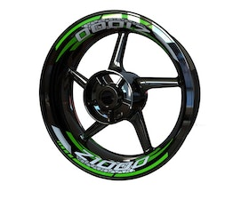 Rim Stickers 2-piece - Kawasaki Z1000 V2