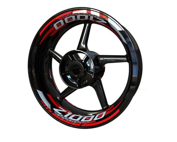 Z1000 Rim Stickers 2-piece V2 (Front & Rear - Both Sides Included)