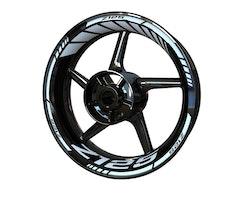 Kawasaki Z125 Wheel Stickers kit - Standard Design