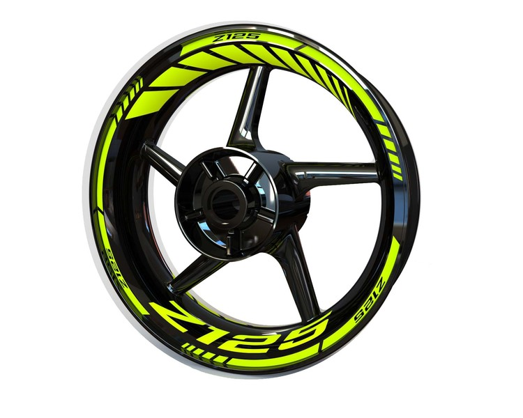Kawasaki Z125 Wheel Stickers Standard (Front & Rear - Both Sides Included)