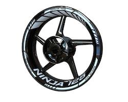 Kawasaki Ninja 125 Wheel Stickers kit - Standard Design