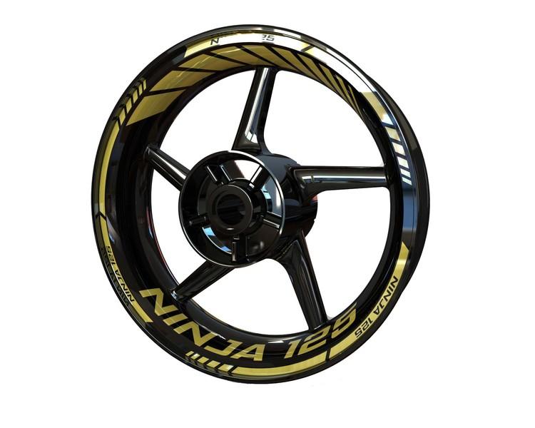 Kawasaki Ninja 125 Wheel Stickers Standard