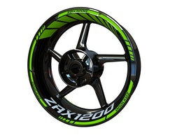 Kawasaki ZRX 1200 Wheel Stickers kit - Standard Design