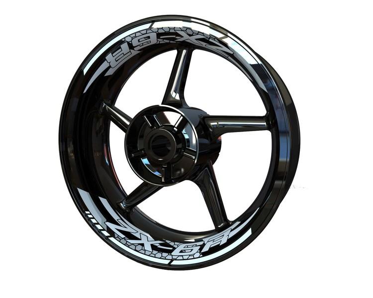Kawasaki ZX-6R Wheel Stickers kit - 2-Piece Design