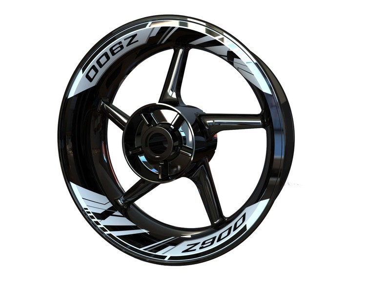 Kawasaki Z900 Rim Stickers 2-piece (Front & Rear - Both Sides Included)