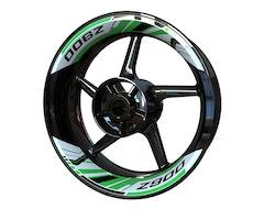 Kawasaki Z900 Wheel Stickers kit - 2-Piece Design
