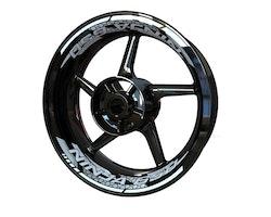 Kawasaki Ninja 650 Wheel Stickers kit - 2-Piece Design