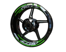 Z750 Rim Stickers 2-piece (Front & Rear - Both Sides Included)