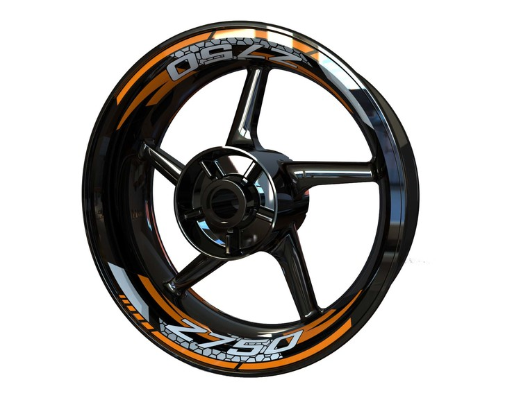 Kawasaki Z750 Wheel Stickers kit - 2-Piece Design
