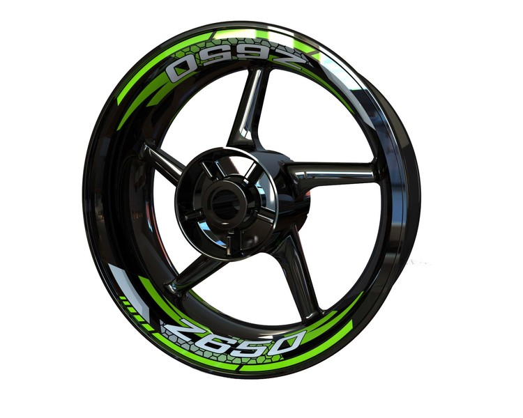 Kawasaki Z650 Rim Stickers 2-piece (Front & Rear - Both Sides Included)
