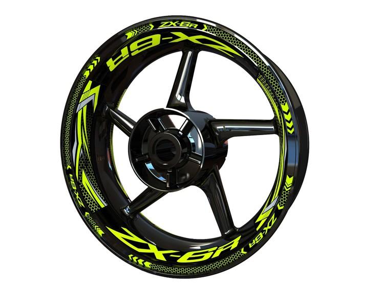 Kawasaki ZX-6R Wheel Stickers kit - Plus Design