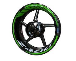 Kawasaki Z400 Wheel Stickers kit - Standard Design