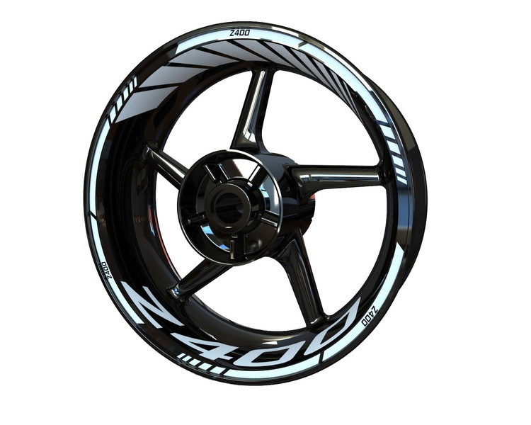 Kawasaki Z400 Wheel Stickers Standard (Front & Rear - Both Sides Included)