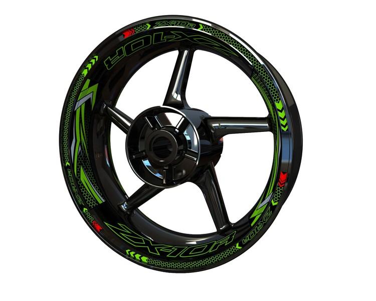 Kawasaki ZX-10R Wheel Stickers kit - Plus Design V2