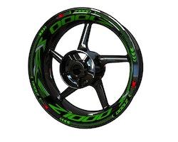 Kawasaki Z1000 Wheel Stickers kit - Plus Design