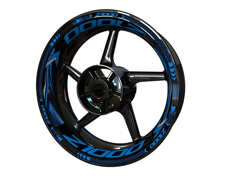 Kawasaki Z1000 Wheel Stickers Plus (Front & Rear - Both Sides Included)