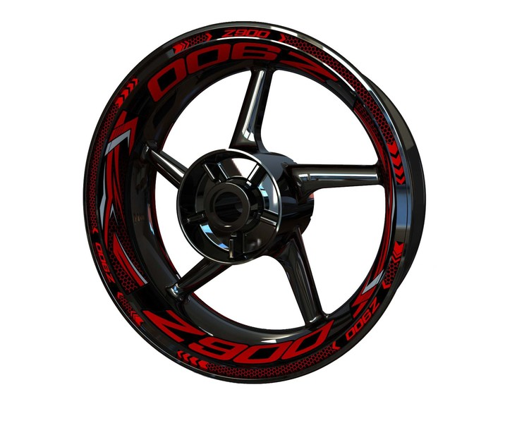 Z900 Wheel Stickers Plus (Front & Rear - Both Sides Included)