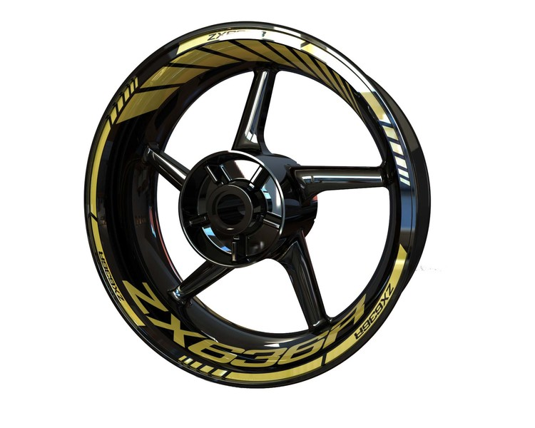 ZX636R Wheel Stickers Standard (Front & Rear - Both Sides Included)
