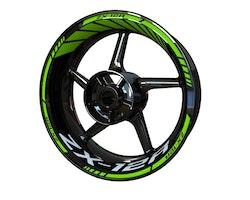 Kawasaki ZX-12R Wheel Stickers kit - Standard Design