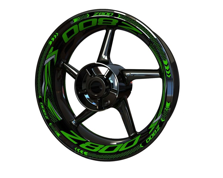 Z800 Wheel Stickers Plus (Front & Rear - Both Sides Included)