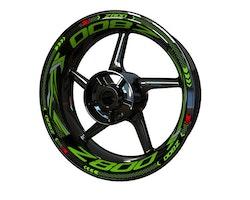 Kawasaki Z800 Wheel Stickers kit - Plus Design