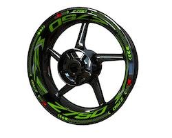 Kawasaki Z750 Wheel Stickers kit - Plus Design
