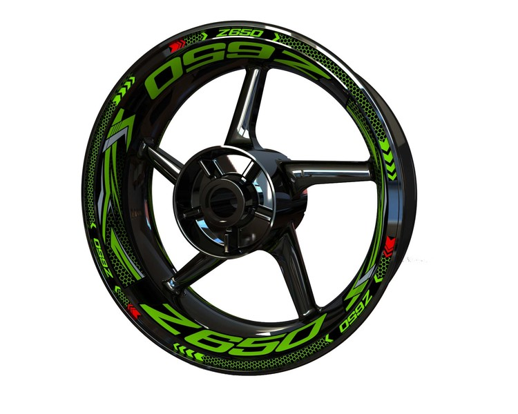 Kawasaki Z650 Wheel Stickers Plus (Front & Rear - Both Sides Included)